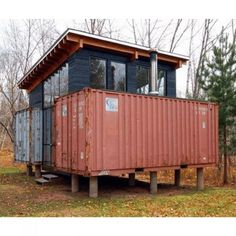 Steel container house plans building a shipping container cabin,container apartment building converted shipping containers into homes,new living container homes old containers for sale. Cargo Container, Container House Plans, Container House Design, Shipping Container Cost, Off Grid Cabin, Container Buildings, Prefab Homes, Cabins In The Woods, Building A House