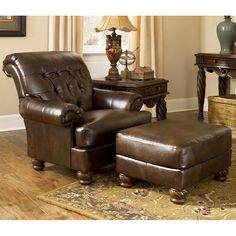 Shop Ashley Furniture Fresco Durablend Antique Accent Ottoman with great price, The Classy Home Furniture has the best selection of Ottomans to choose from Living Room Sets, Living Room Chairs, Living Room Furniture, Home Furniture, Furniture Market, Furniture Upholstery, Furniture Online, Furniture Stores, Cheap Furniture