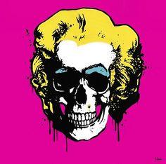 Marilyn-Monroe-Skull-Paintings-by-George-Ioannou.jpg 470×468 pixels