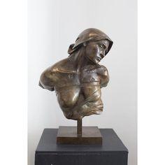 'Buste de Femme Esclave' Bronze Fine Sculpture by Christophe Charbonnel 'Buste de Femme Esclave' fine sculpture createdby the french artist, Christophe Charbon