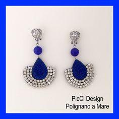 Orecchini PicCi design. Realizzati interamente a mano. Potete trovarli oppure ordinarli da PicCi a Polignano a Mare in via Neapolis 11