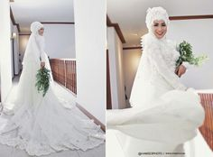 Indonesian Moslem Bride #bridegown #bridedresses #moslembride #muslimbride #hijabbride #hijabweddingdress