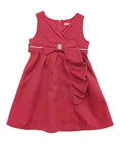 Love this Mini Treasure Kids Pink Indee Diamonte A-Line Dress - Infant by Mini Treasure Kids on #zulily! #zulilyfinds