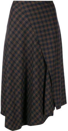 Wool Skirts, Plaid Skirts, Mini Skirts, Animal Print Maxi Dresses, Houndstooth Coat, Ralph Lauren Collection, Gray Skirt, Wool Fabric, Rock