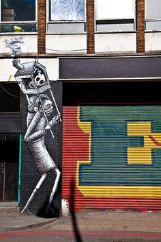 Phlegm  Rivington Street, London, UK #streetart