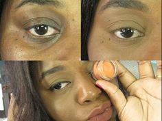 Como esconder olheiras com corretivo - Pele Negra - YouTube