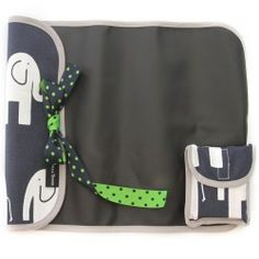 Elephant Trunk Navy Imagidoodle Chalkfolio...on-the-go chalk mat that rolls and ties for travel and easy entertainment! Includes chalk. $24 www.bellatunno.com