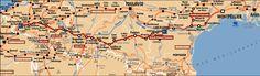 Le chemin du Piémont pyrénéen relie la Méditerranée à l'Atlantique en parcourant d'Est en Ouest, le Razès, l'Ariégeois, le Comminges, la Bigorre, le pays des Gaves. C'est un chemin d'aventure peu connu et riche en patrimoine que l'on peut rejoindre en quittant la Voie d'Arles à Montpellier en direction de Narbonne par Saint-Thibéry et Béziers (Via Domitia).
