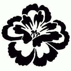 Peony Flower Stencil What size? Stencil Patterns, Stencil Designs, Designs To Draw, Simple Flowers, Amazing Flowers, Peony Flower, Flower Art, Hawaiian Tribal, Free Stencils
