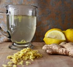 My early morning drink. ... the benefits of a hot lemon and ginger water