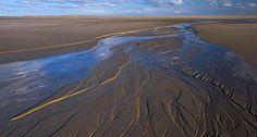 El mar de frisia. (Alemania) Las marismas del mar de Frisia alemán que forman parte del mar del norte, figuran en la lista del patrimonio de la Humanidad de la Unesco.