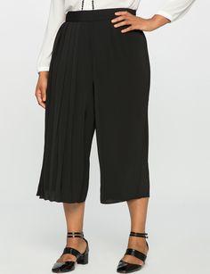 Studio Cropped Pleated Pant Black