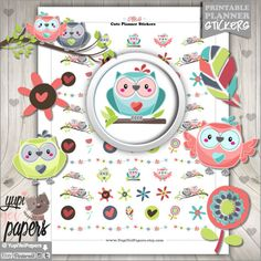 Owl Planner Stickers by www.YupiYeiPapers.Etsy.com