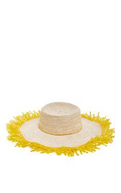 Mrs. Lilien's Loves: Sensi Studio Lady Majorca Crocheted Hat with Frayed Raffia Brim | CoastalLiving.com