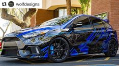This amazing wrap design buy @wolfdesigns with some of my background fill came out awesome! Gate job guys. . . . . #fordfocusrs #ford…