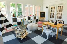 Colourful large #playroom flooded with natural light.