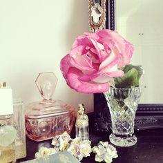 Gorgeous rose from my Grandma's garden #flowers #interiors #pink xo