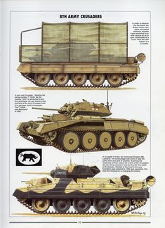 """Photo from album """"Histoire & Collections - Tanks of the WWII"""" on Yandex. Army Vehicles, Armored Vehicles, Military Art, Military History, Crusader Tank, Super Tank, North African Campaign, Military Drawings, Accessories"""