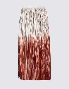 M&S Rose Gold Metallic Ombé Dip Dye Foil Skirt - Georgina Marfé (@georgina_marfe) | Twitter (scheduled via http://www.tailwindapp.com?utm_source=pinterest&utm_medium=twpin)