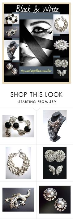 """Black & White"" by renaissance-fair ❤ liked on Polyvore featuring GE and CORO"