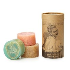 Look what I found at UncommonGoods: Loofah Scrubber 3 piece soap set for $30 #uncommongoods