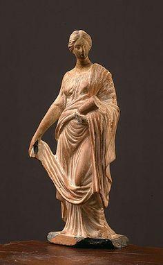 Female figure with cornucopia Terracotta Height - cm III century BC. Terracotta, Ancient Greek Sculpture, Ancient Goddesses, Small Sculptures, Minoan, Rome, Greek Art, Ancient Romans, Ancient Civilizations