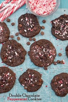 easy double chocolate peppermint cookies make with leftover candy canes and a boxed cake easy cookie recipeschristmas - Best Christmas Desserts Ever
