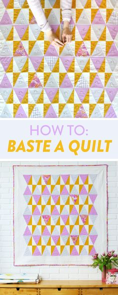 How to baste a quilt 3 different ways! Try pin basting, spray basting or board basting based on your basting needs. Quite the tongue twister ;)