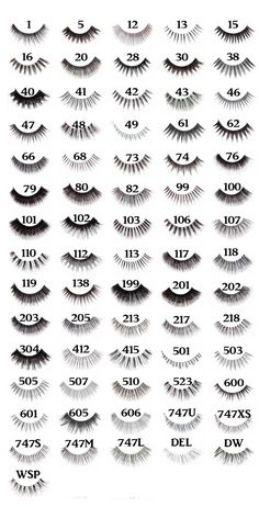 Red Cherry Lash Chart. We love #RedCherryLashes and we have them in stock! #SDSHairGroupAustralia