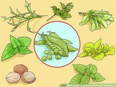 Try peas with tarragon, mint, parsley, nutmeg, sage, marjoram, and basil
