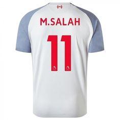 d7bb709c0 Men s Liverpool FC Mo Salah 2018 2019 Third 3rd Kit Soccer Jersey New  Balance