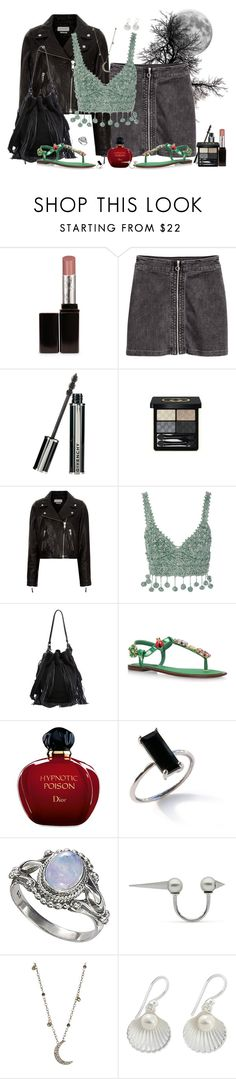 """""""Just a summer thing . . ."""" by winscotthk ❤ liked on Polyvore featuring Laura Mercier, Givenchy, Gucci, Étoile Isabel Marant, Rosie Assoulin, Loeffler Randall, Dolce&Gabbana, Christian Dior and ela rae"""