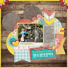 Disneyland scrapbook page layout idea I love this layout, seen it done in many different colors need to remember Paper Bag Scrapbook, Disney Scrapbook Pages, Scrapbook Page Layouts, Scrapbook Albums, Scrapbook Cards, Scrapbooking Ideas, Photo Layouts, Scrapbook Designs, Digital Scrapbooking