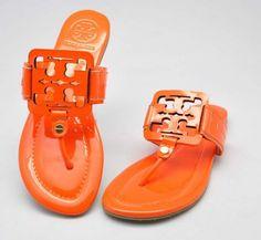 8db347d63 Tory Burch Metallic Orange Square Miller Sandal Store