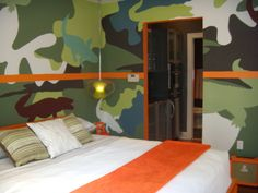 painting boys room | Painting a wall in a camouflage pattern can be a fun project to share ...