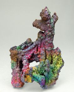 Iridescent Goethite   #Geology #GeologyPage #Mineral Locality: La Lapilla Mine La Lapilla Alosno Comarca El Andévalo Huelva Andalusia Spain Specimen size: 5.2 3.3 1.6 cm Photo Copyright Fabre Minerals Geology Page www.geologypage.com