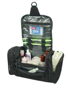 Deluxe Travel Kit Organizer w Hanging Hook *** Details can be found by clicking on the image. Note:It is Affiliate Link to Amazon.