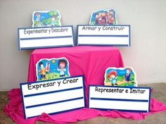Carteles de espacios de Preescolar - Imagui