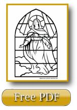 Stained Glass Assumption Of The Blessed Virgin Mary Coloring page