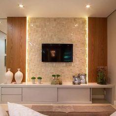 Home Theater Planejado Vidro 30 Ideas Tv Cabinet Design, Tv Unit Design, Tv Wall Design, Living Room Tv Unit, Living Room Decor, Home Tv, Living Room Designs, Decoration, Home Decor