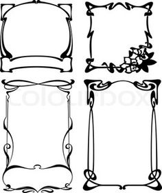 Vector of 'Four Black And White Art Deco Frames. Others In Portfolio.'