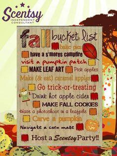 Fall bucket list #autumn #scentsy #pumpkins #leaves #apples