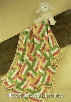 Sonoma Baby Blanket By Treva G. McCain - Free Crochet Pattern - See http://www.ravelry.com/patterns/library/sonoma-baby-blanket For Additional Projects - (naturallycaron)