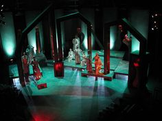 Antigone Set Design by Alex Lange, via Behance