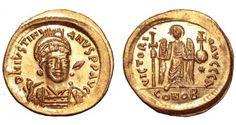 Byzantine Empire AV Solidus ND Justinian I circa 528-37AD Constantinople Mint