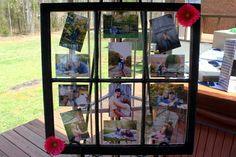 Window Pane Picture Frame, super cute.  Bridal Shower