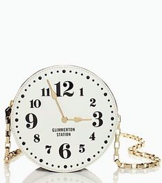 Pinned by DawnBlogtopus.com kate spade clock purse need for costume!!