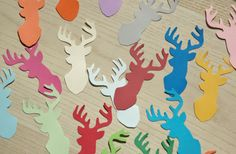 Deer confetti large  Pick your colors. Baby shower by ThePaperPugs