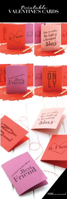 Printable Valentine's Day Cards for an easy and love-filled Valentine's gift!