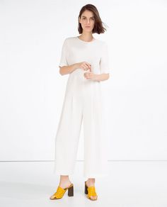 Image 1 of JUMPSUIT WITH WAIST SEAM from Zara